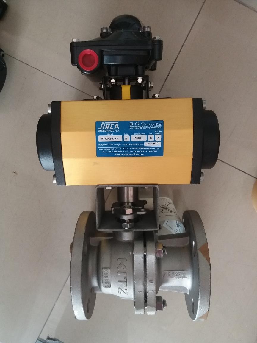 BALL VALVE 2PC FLANGED WITH PNEUMATIC ACTUATOR
