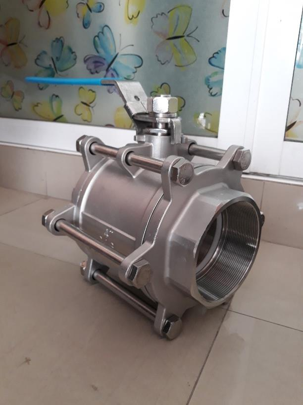 BALL VALVE 3PC FULL PORT,BALL VALVE 3PC FULL PORT BODY:SS316,BALL:SS316,SEAT:PTFE,CONN:SCREWED END BSPT 1000P,FLOW,Pumps, Valves and Accessories/Valves/Ball Valves