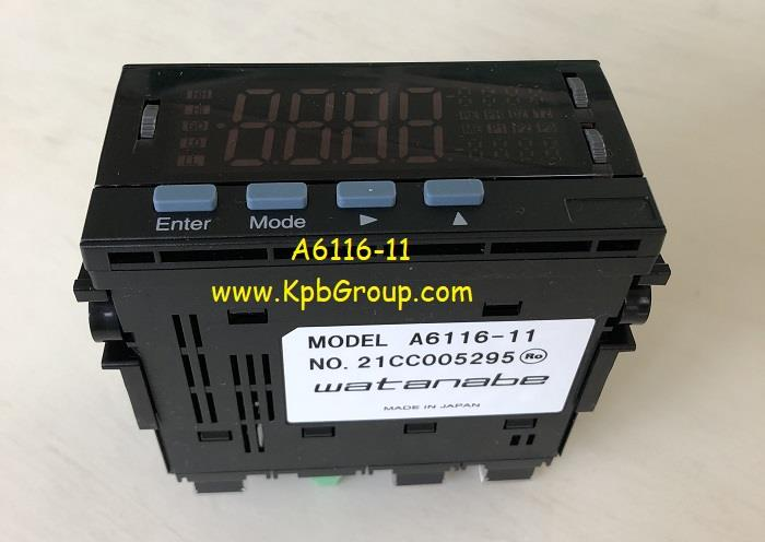 WATANABE Digital Panel Meter A6116-11,A6116-11, WATANABE, ASAHI KEIKI, Panel Meter, Digital Panel Meter, AC Ammeter,WATANABE,Instruments and Controls/Meters